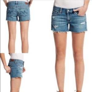 AG Adriano Goldschmied Carrie Denim Shorts - 26
